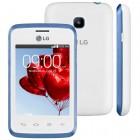 Smartphone LG L20 Tri Chip Branco e Azul, Tela 3.0'', C�m 2MP, 4GB, 3G, And 4.4 - Embalagem Aberta