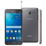 Smartphone Samsung Galaxy Gran Prime Duos TV - Cinza - Quad Core, Mem 8 GB, Android 4.4, C�m 8MP