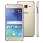 Smartphone Samsung Galaxy J5 Duos J500M, Dourado, Tela 5'', 4G + WiFi, Android 5.0, 13MP, 16GB