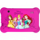 Tablet Infantil Disney Princesa, Quad Core, Android 4.4, Dual Câmera, Tela 7