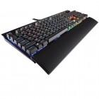 Teclado Gamer Corsair K70 Lux RGB Cherry MX Red - Preto com Led Multicolor, Com Fio