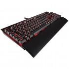 Teclado Mecanico Gamer Corsair K70 Lux Cherry MX - Preto com Led Vermelho, Com Fio