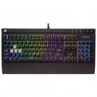 Teclado Mecânico Gamer Corsair Strafe RGB MX Silent - Preto Com Led Multicolor, Com Fio