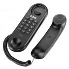 Telefone Com Fio Elgin TCF 1000 Preto - Para Mesa e Parede