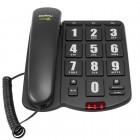 Telefone Com Fio Intelbras ÁudioPlus 4080031 Preto - Compatível com Aparelhos Auditivos