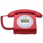 Telefone Com Fio IntelBras Retrô TC8312 4030162 Vermelho - Identificador de Chamadas e Viva Voz
