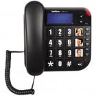 Telefone Com Fio IntelBras Tok Fácil ID Preto, Identificador de Chamadas e Viva Voz - 4000073