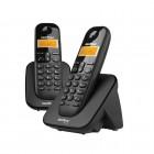 Telefone Sem Fio IntelBras TS3112 4123102 com Ramal Adicional e Identificador de Chamadas - Preto