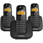Telefone Sem Fio IntelBras TS3113 4123103 com Identificador de Chamadas - Preto + 2 Ramais