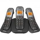 Telefone Sem Fio Intelbras TS5123 Preto, Viva Voz, Identificador De Chamadas + 2 Ramais - 4125123