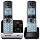 Telefone sem Fio Panasonic KX-TG6722LBB Preto Dect 6.0 - Com Base e Ramal