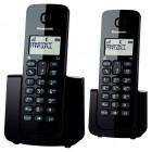 Telefone Sem Fio Panasonic KX-TGB112LBB Preto - Identificador de chamadas + Ramal