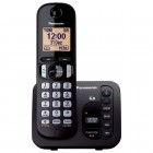Telefone sem Fio Panasonic KX-TGC220LBB Preto Dect 6.0, Secretária Eletrônica, Viva-Voz