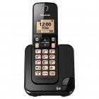 Telefone Sem Fio Panasonic KX-TGC350LBB Preto - Identificador de Chamada, Viva Voz