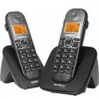 Telefone Sem Fio Intelbras TS5122 4125122 Preto - Viva Voz, Identificador De Chamadas + Ramal