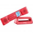 Telefone Sem Fio Intelbras TS8520 Vermelho, Viva Voz, Identificador De Chamadas - 4128528