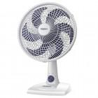 Ventilador de Mesa 30cm Mondial NV-15, 3 Níveis de Velocidade, 6 Pás, 50W, 110V - Branco e Azul