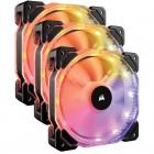 Ventoinha Corsair HD120 RGB, 120mm, 1725 RPM, Led Multicolor, Embalagem Tripla - CO-9050067-WW