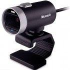 Webcam Microsoft Lifecam Cinema 720p HD Preto - USB, Com Microfone Digital