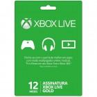 Xbox Live Gold 12 Meses para Xbox 360 e Xbox One - Microsoft