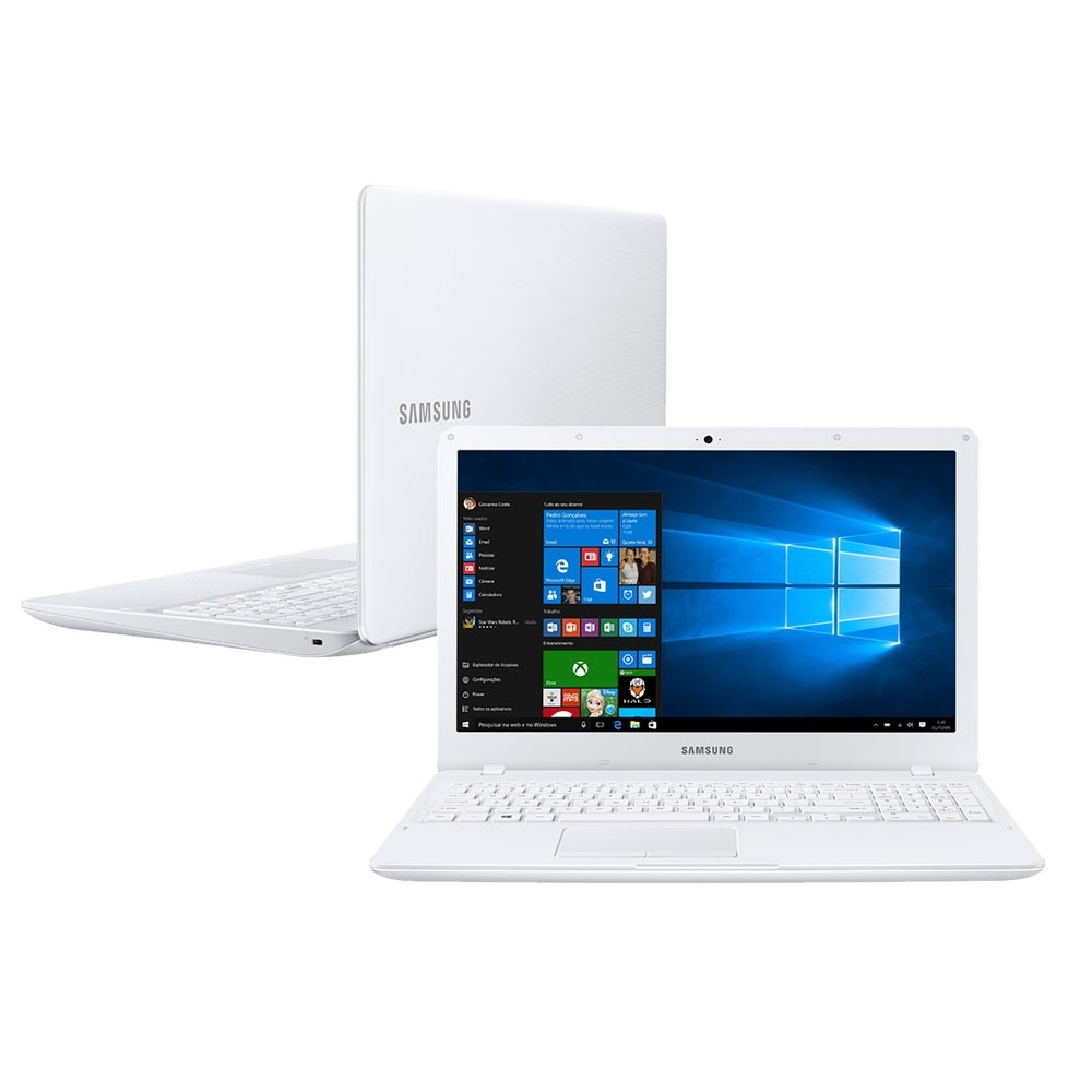 Notebook Samsung Essentials E21 NP300E5K, Intel Celeron, HD 500GB, RAM 4GB, 15.6 ´, W10 Home - Branco