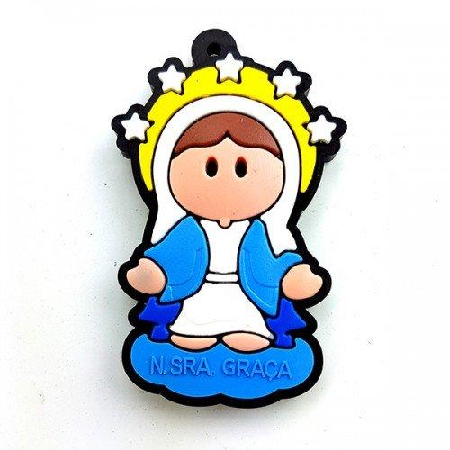 Chaveiro Infantil Nossa Senhora das Graças com cheiro de Tutti Frutti