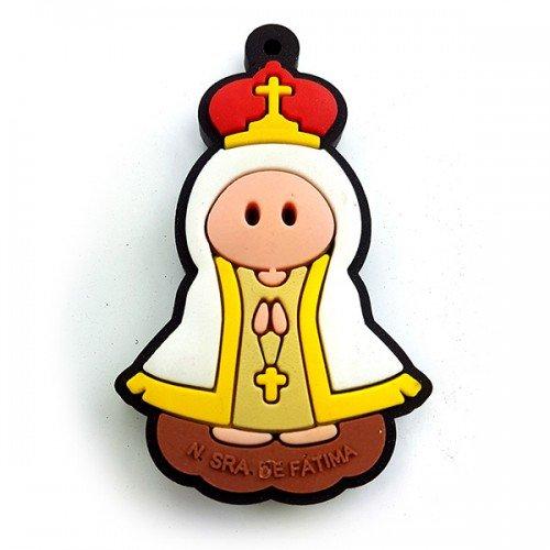 Chaveiro Infantil Nossa Senhora de Fátima com cheiro de tutti frutti
