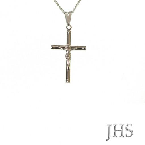 Corrente com Crucifixo Pequena - Aço Inox - Médio