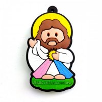 Chaveiro Infantil Jesus Misericordioso com cheiro de tutti Frutti