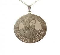 Corrente com São Bento em Aço Inox - (Medalha Grande)