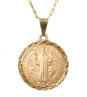 Corrente com São Bento (Medalha Pequena)