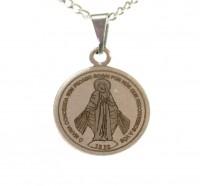 Corrente de N. Senhora das Graças em Aço Inox - (Medalha Média)