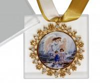 Medalhão de Berço com Fitas