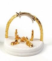 Presépio Arco Dourado Folheado a ouro