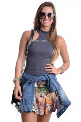 Imagem - Blusa Frente Única com Gola
