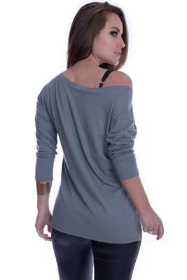 Imagem - Blusa Ombro Ca�do com Estampa