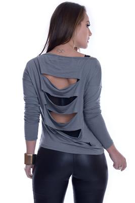 Imagem - Blusa Ombro Ca�do com Recortes