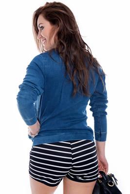 Imagem - Jaqueta Bomber Jeans Patches
