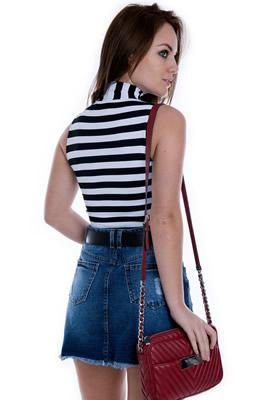 Imagem - Saia Jeans A de Cintura Alta