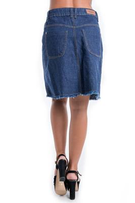 Imagem - Saia Jeans de Botões