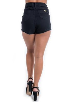 Imagem - Shorts Cintura Alta com Malha Sintética