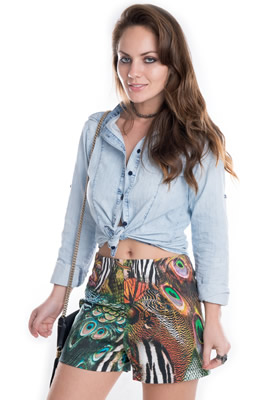 Imagem - Shorts Hot Pants Estampado