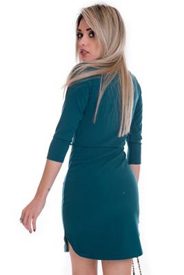 Imagem - Vestido com Decote e Gola
