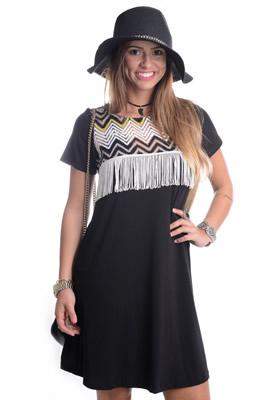 Imagem - Vestido com Detalhe Tribal