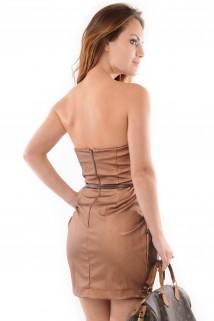 Imagem - Vestido de Courino