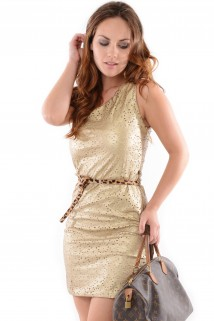 Imagem - Vestido de Malha Sintética