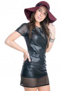 Imagem - Vestido de Malha Sint�tica Vazado