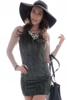 Imagem - Vestido de Plush com Tule