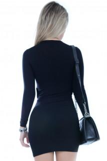 Imagem - Vestido de Viscolycra com Nó