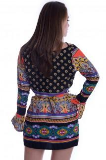 Imagem - Vestido de Viscose com Tiras no Decote